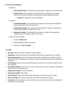 Living Environment Regents Review Packet 1 of 5