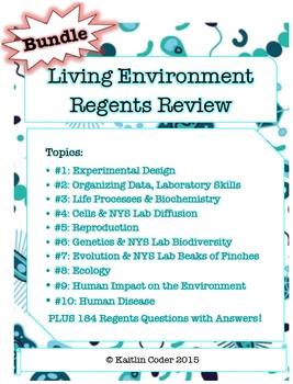 Living Environment Regents Review Packets *EDITABLE BUNDLE*