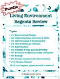 Living Environment Regents Review Packets *EDITABLE BUNDLE*