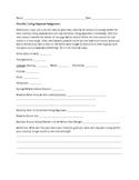 Living Expenses Worksheet