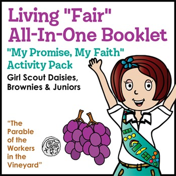 """Living """"Fair"""" All-In-One Booklet - Girl Scouts My Promise, My Faith - All Steps!"""