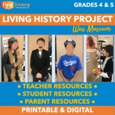 Living History Project   Wax Museum Presentation   Oral Biography Report