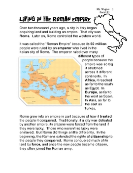 of the Roman Empire Map Worksheet - romans, roman empire