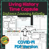Living History Time Capsuel - Covid19 Distance Learning -P
