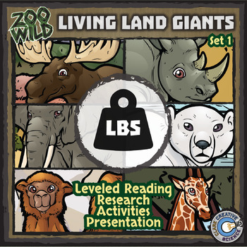 Living Land Giants - Zoo Wild Bundle - Leveled Reading, Slides & Activities