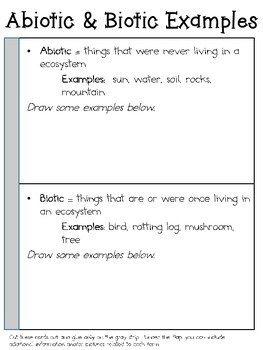 Living & Non-Living (Biotic & Abiotic) ~ Interactive Science Notebook Pack