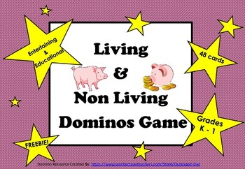 Living & Non Living Domino Game - FREEBIE!!!