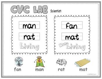 "FREE Living & Non-Living Objects; CVC Short ""A"" (Science & ELA)"