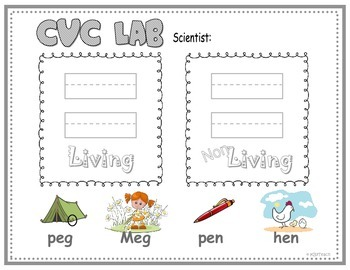 Living & Non-Living Objects  *BUNDLE* (AEIOU) Science + Phonics
