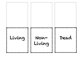 Living, Non-Living, or Dead Presentation with Interactive Notebook Foldable