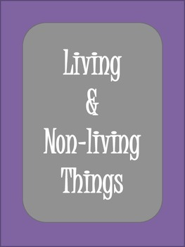 Living and Nonliving worksheet - True / False questions