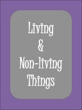 Living and Nonliving worksheet - True / False questions
