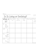 Living Nonliving Activity