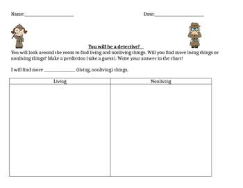 Living Nonliving Activity Sheet