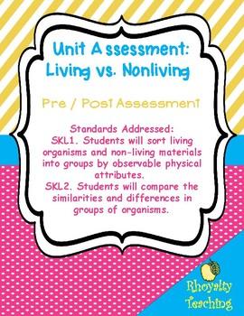 Living/Nonliving Assessment