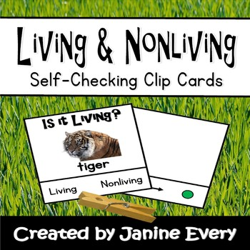 Living & Nonliving Clip Cards
