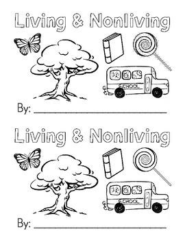 Living & Nonliving Emergent Reader {Black & White}