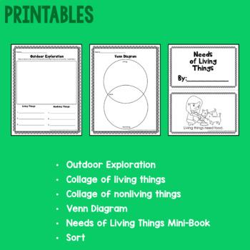 Living & Nonliving Things Mini Science Unit for Preschool & Kindergarten