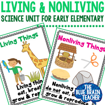 Living & Nonliving Things Mini Science Unit for Preschool & Kindergarten