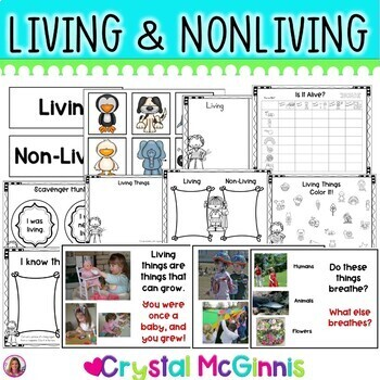 Living & Nonliving Mini Unit (10 Activities Included)