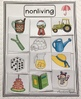 Living Nonliving Sort for Autism and Early Childhood