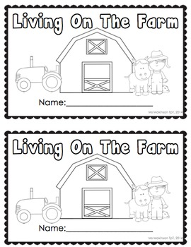 """Living On The Farm"" Emergent Reader + Vocabulary Cards (Farm Animals)"