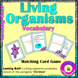 Living Organisms Classification Vocabulary Cards-Domains, Kingdoms, Cells