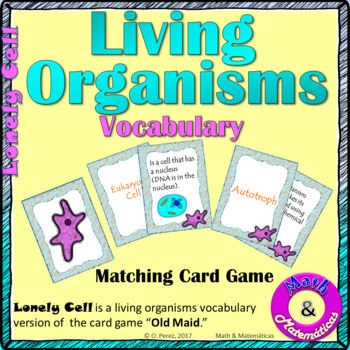 Classification of Living Things Vocabulary Cards Game - Domains, Kingdoms,  Cells