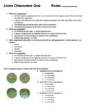 Living Organisms Quiz