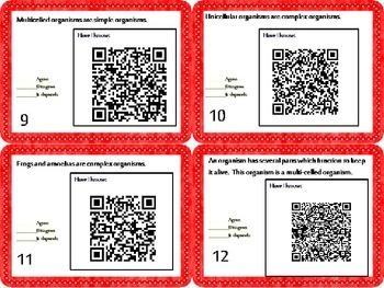 Living Organisms Task Cards {Agree/Disagree Statements} CC 5.L.1{QR Codes}