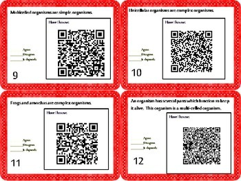 Living Organisms Task Cards {Agree/Disagree Statements} CC 5.L.1{QR Codes}