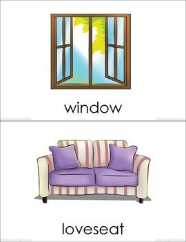 Living Room BUNDLE (set I, II) Picture Flashcards