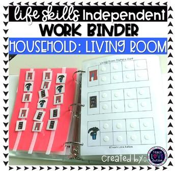 Living Room Independent Work Tasks