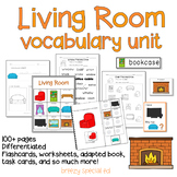 Living Room Vocabulary Unit (special education and autism resource)