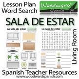 Living Room in Spanish - Word Search and Group Activity