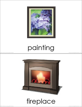 Living Room (set I) Picture Flashcards