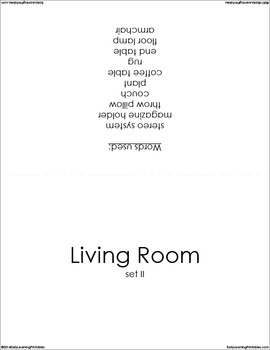 Living Room (set II) Picture Flashcards
