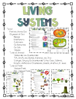 Living Systems Notes/ Study Guide by A Fearless Bunch | TpT
