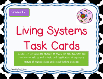 Living Systems Task Cards