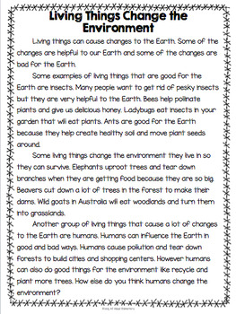Living Things {Living Things Change the Environment & Extinct Animals}