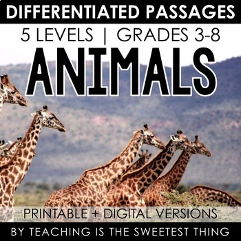 Living Things: Animals - Passages