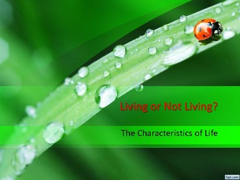 Living Things - Characterisitics of Living Things