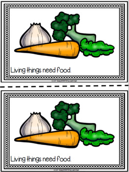 Living Things Emergent Reader Book AND Interactive Activities