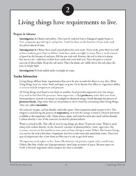 Living Things Have Requirements to Live
