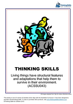 Living Things Have Structural Features And Adaptations ACSSU043