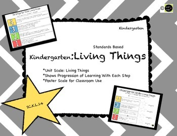 Living Things: Kindergarten Learning Scale