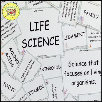 Living Things Vocabulary Cards