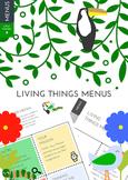 Living Things Menus