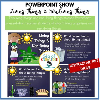 Living Things Non-living Things Powerpoint