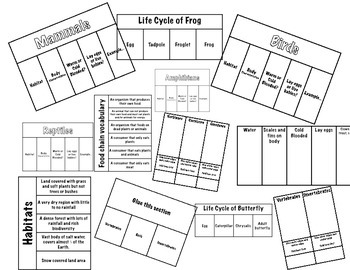 Living Things Science Interactive Foldable Bundle
